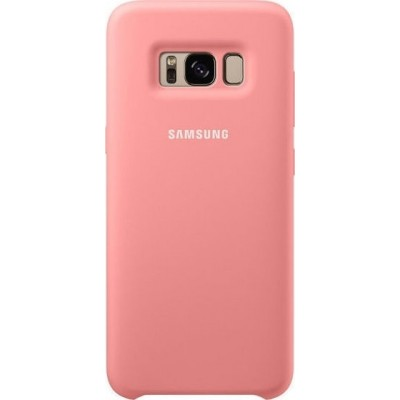 Samsung Official Silicon Cover - Silky and Soft-Touch Finish - Θήκη Σιλικόνης Samsung Galaxy S8 - Pink (EF-PG950TPEGWW)