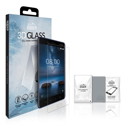 Eiger Nokia 8 3D GLASS Clear (EGSP00147)