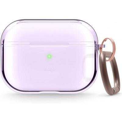Elago AirPods Pro Clear TPU Hang Case - Ημιδιάφανη Θήκη για AirPods Pro - Lavender (EAPPCL-HANG-LV)