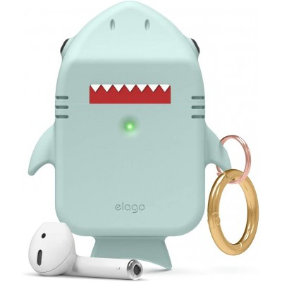 Elago AirPods Shark Case - Θήκη Σιλικόνης για AirPods 2nd Gen / 1st Gen - Baby Mint (EAP-SHARK-MT)