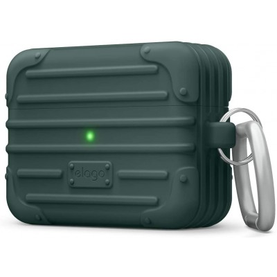 Elago AirPods Suit Case - Θήκη Σιλικόνης για AirPods Pro - Midnight Green (EAPPSUIT-MGR)