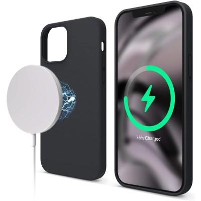 Elago MagSafe Θήκη Σιλικόνης Apple iPhone 12 / 12 Pro - Black