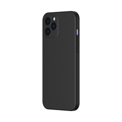 Baseus θήκη σιλικόνης για iPhone 12/12 Pro Liquid Black