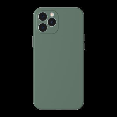 Baseus θήκη σιλικόνης για iPhone 12  Liquid Green (200-107-571)