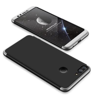 Full Body θήκη για Huawei Honor 9 Lite μαύρη-ασημί