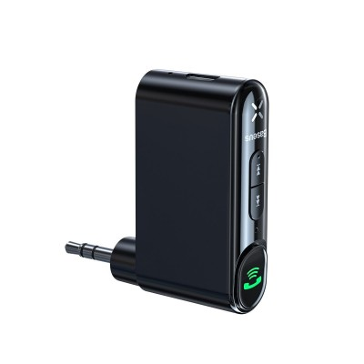 Baseus Qiyin Bluetooth AUX Audio Receiver (WXQY-01) Αντάπτορας Mini Jack - Black