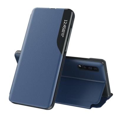 OEM Flip Cover Case Θήκη με Ημιδιάφανο Παράθυρο για Samsung Galaxy A10 - Blue