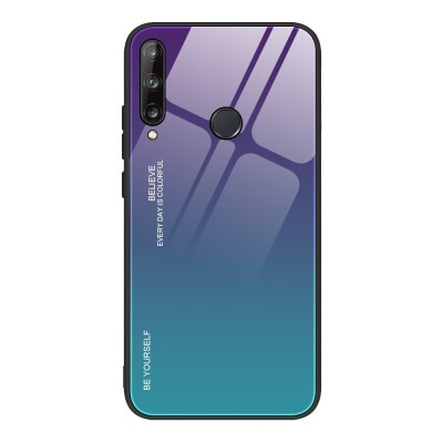 OEM Θήκη Tempered Glass Huawei P40 Lite E - Green/Purple