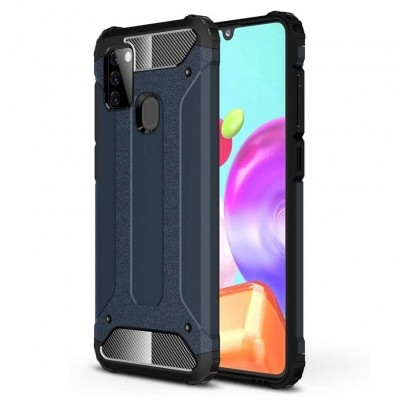 OEM Hybrid Armor Case Tough Rugged Cover for Samsung Galaxy A21s Blue