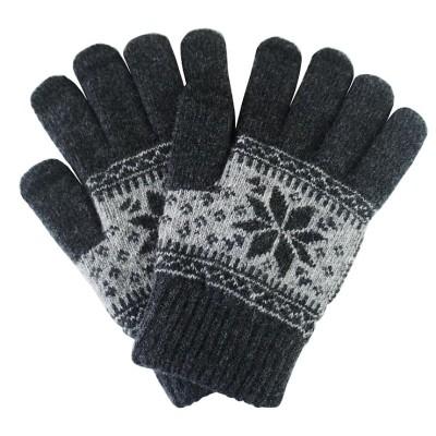 Γάντια για Οθόνη Αφής Γκρι Χειμωνιάτικο σχέδιο ΟΕΜ