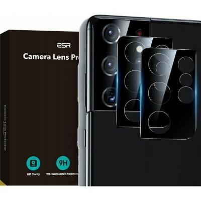 ESR Camera Lens Protector - Αντιχαρακτικό Προστατευτικό Γυαλί για Φακό Κάμερας Samsung Galaxy S21 Ultra 5G - Black - 2 Τεμάχια