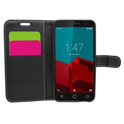Θήκη- Πορτοφόλι για Vodafone Smart Prime 6 μαύρη