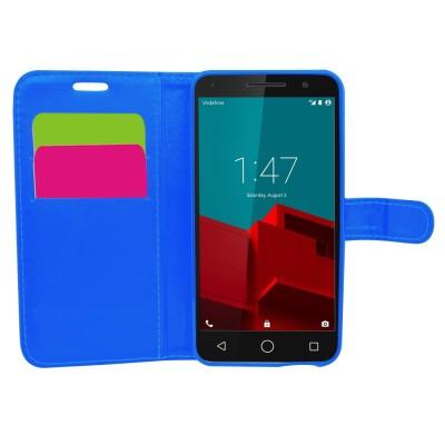 Θήκη- Πορτοφόλι για Vodafone Smart Prime 6 μπλε