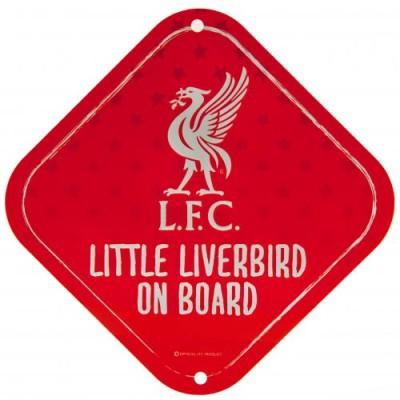 """Πινακίδα διακοσμητική Liverpool FC """" Little Liverbird On Board """" Μεταλλική"""
