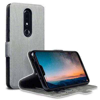 Terrapin Θήκη - Πορτοφόλι Nokia 6.1 Plus - Grey