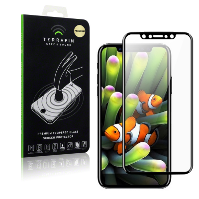 Terrapin Edge to Edge Tempered Glass - Αντιχαρακτικό Γυάλινο Screen Protector iPhone XS Max - Black