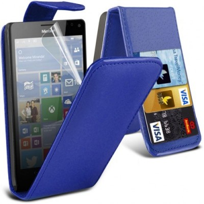Flip Θήκη Μπλέ Microsoft Lumia 950
