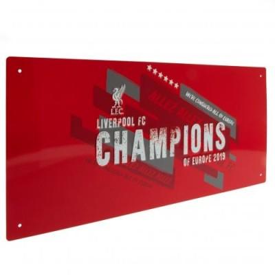 Μεταλλική διακοσμητική πινακίδα Liverpool F.C Champions - Επίσημο προιόν
