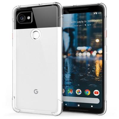 Θήκη σιλικόνης Ultra Slim για Google Pixel 2 XL διάφανη by Caseflex