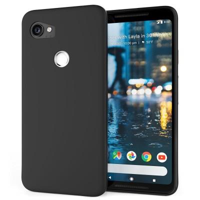 Θήκη σιλικόνης μαύρη ματ για Google Pixel 2 XL by Caseflex