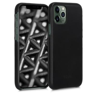 Kalibri Σκληρή Δερμάτινη Θήκη Apple iPhone 11 Pro Max - Smooth Genuine Leather Hard Case - Black (49738.01)