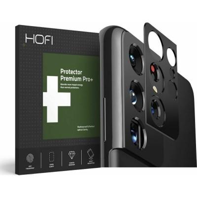Hofi Premium Pro+ Camera Metal Styling - Μεταλλικό Προστατευτικό Κάλυμμα Κάμερας Samsung Galaxy S21 Ultra 5G - Black (76828)