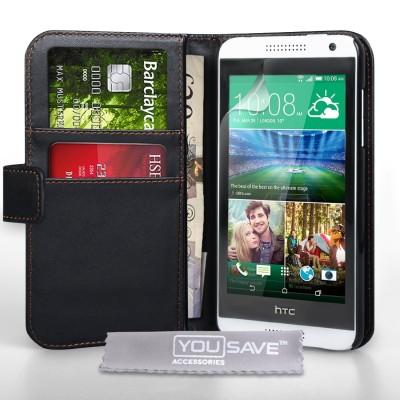 Θήκη- Πορτοφόλι για HTC Desire 610 μαύρη