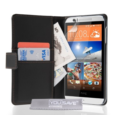 Θήκη- Πορτοφόλι για HTC Desire 510 μαύρη by YouSave