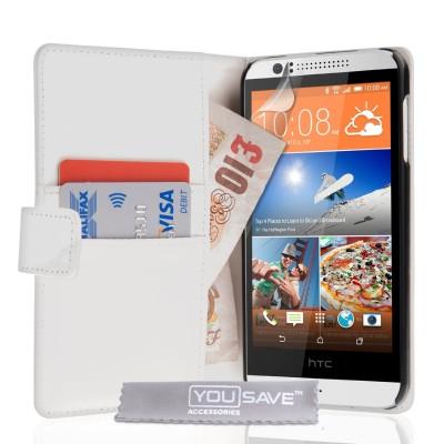 Θήκη- Πορτοφόλι για HTC Desire 510 λευκή by YouSave