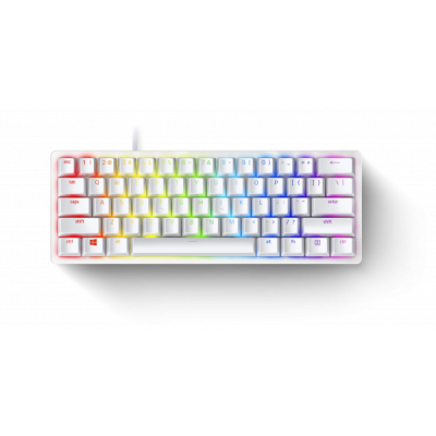 Razer HUNTSMAN MINI MERCURY ED. - 60% Linear Red Opto Mechanical Switch Gaming Keyboard - US Layout