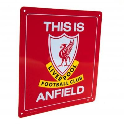 """Πινακίδα Liverpool FC """"This is Anfield"""" παράθυρου 14cm x 12cm"""