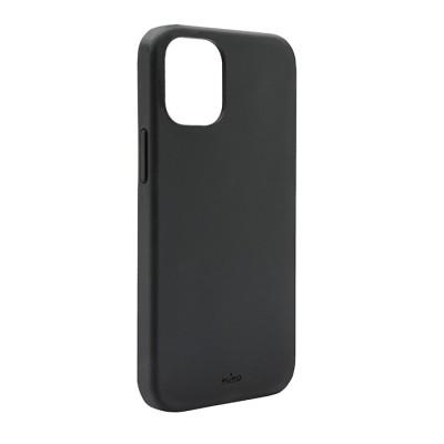 PURO  Cover Silicon with microfiber inside για iPhone 13  - Μαύρο (IPC1361ICONBLK)