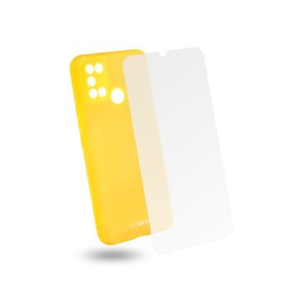 Egoboo Θήκη Ανθεκτική Σιλικόνης Lime για Realme 7i και δώρο Tempered Glass (R7ITPULIMEGL)