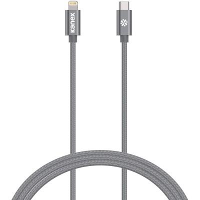 Kanex DuraBraid Premium USB-C 3 > Lightning 1.2m Space Gray (K157-1528-1MSG)