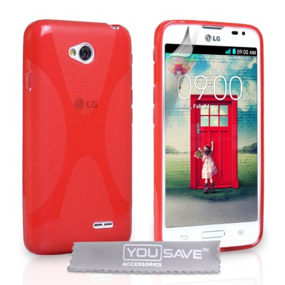 Θήκη σιλικόνης για LG L65 κόκκινη by YouSave Accessories