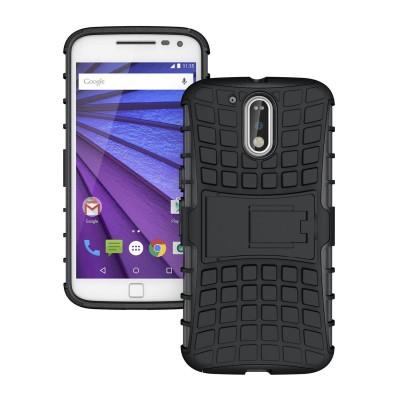 Μαύρη Ανθεκτική Θήκη Motorola Moto G4 / G4 Plus