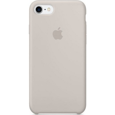 Official Apple Silicone Case - Θήκη Σιλικόνης Apple iPhone SE 2020 / 8 / 7 - Stone (MMWR2ZM/A)