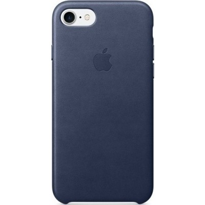 Official Apple Leather Case - Δερμάτινη Θήκη Apple iPhone SE 2020 / 8 / 7 - Midnight Blue (MMY32ZM/A)