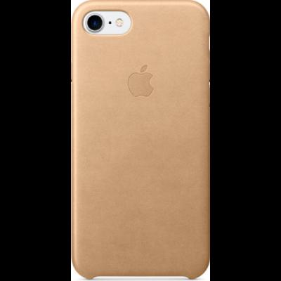 Official Apple Leather Case - Δερμάτινη Θήκη Apple iPhone SE 2020 / 8 / 7 - Tan (MMY72M/A)