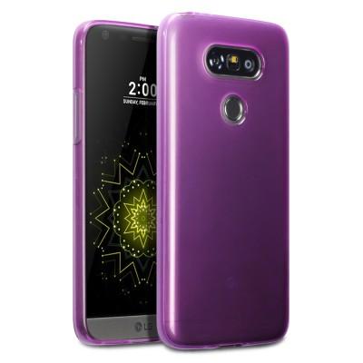 Ημιδιάφανη Μωβ Θήκη Σιλικόνης LG G5