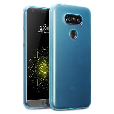 Ημιδιάφανη Γαλάζια Θήκη Σιλικόνης LG G5