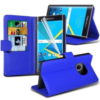 Μπλέ Θήκη Πορτοφόλι Blackberry Priv