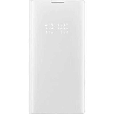 Original θήκη Samsung EF-NN975PWE για Galaxy Note 10 Plus Flip Cover Led View White (200-108-192)