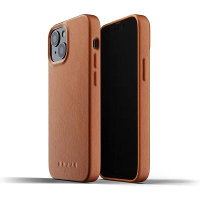 MUJJO Full Leather Case - Δερμάτινη Θήκη Apple iPhone 13 mini - Tan (MUJJO-CL-019-TN)