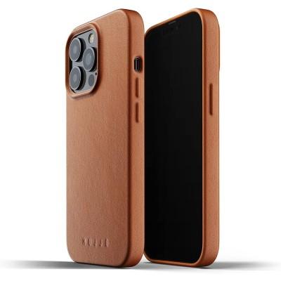 MUJJO Full Leather Case - Δερμάτινη Θήκη Apple iPhone 13 Pro - Tan