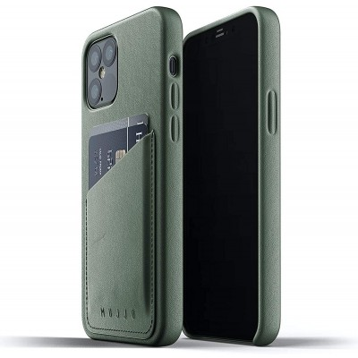 MUJJO Full Leather Wallet Case - Δερμάτινη Θήκη-Πορτοφόλι Apple iPhone 12 / 12 Pro - Slate Green (MUJJO-CL-008-SG)
