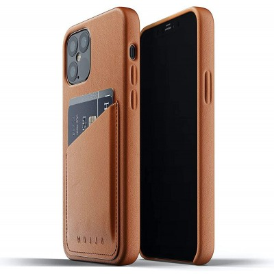 MUJJO Full Leather Wallet Case - Δερμάτινη Θήκη-Πορτοφόλι Apple iPhone 12 / 12 Pro - Tan (MUJJO-CL-008-TN)