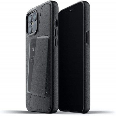 MUJJO Full Leather Wallet Case - Δερμάτινη Θήκη-Πορτοφόλι Apple iPhone 12 Pro Max - Black (MUJJO-CL-010-BK)
