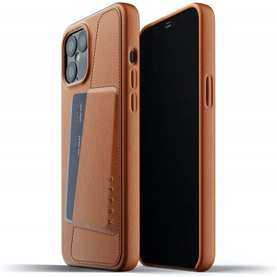 MUJJO Full Leather Wallet Case - Δερμάτινη Θήκη-Πορτοφόλι Apple iPhone 12 Pro Max - Tan (MUJJO-CL-010-TN)