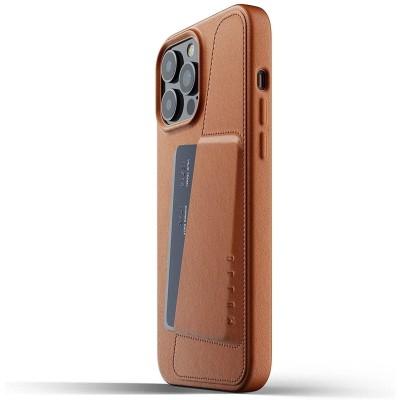 MUJJO Full Leather Wallet Case - Δερμάτινη Θήκη-Πορτοφόλι Apple iPhone 13 Pro Max - Tan (MUJJO-CL-018-TN)